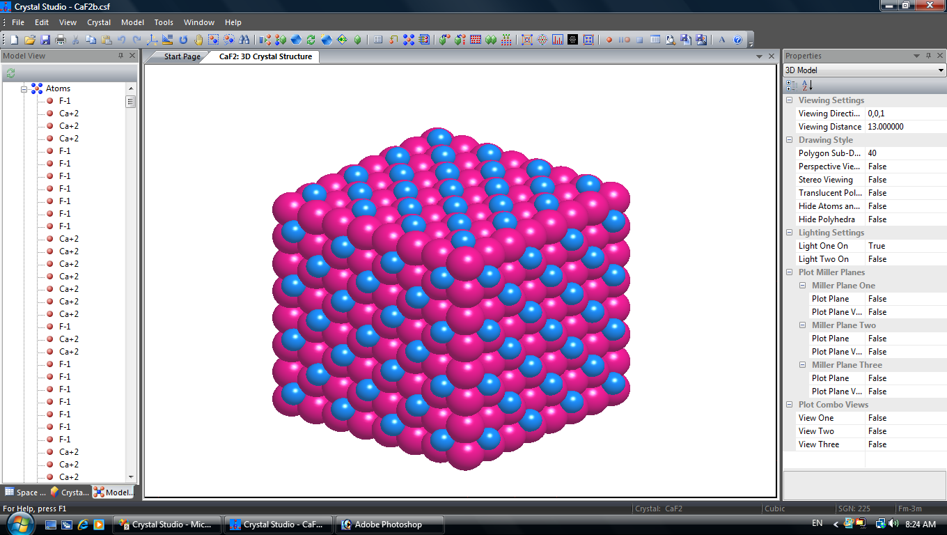Crystal Studio: Crystallography Software for Crystal and